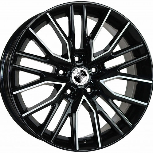 "Wolfhart Vortex 18"" Gloss Black Polished Wheel and Tyre Package"