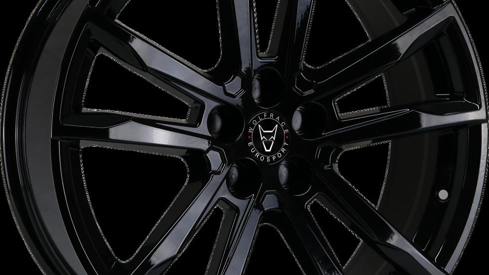 Wolfrace Eurosport Dortmund Gloss Black Wheel and Tyre Package