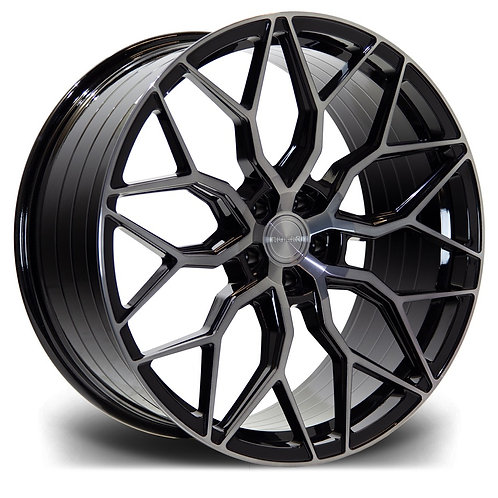 "RIVIERA BLACK DARK TINT RF108 20"" ALLOY + TYRE PACKAGE"