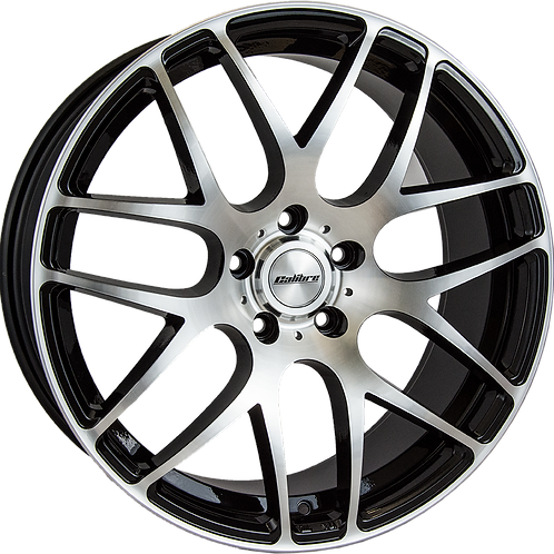 Calibre Exile-R Black Polished Wheel and Tyre Package