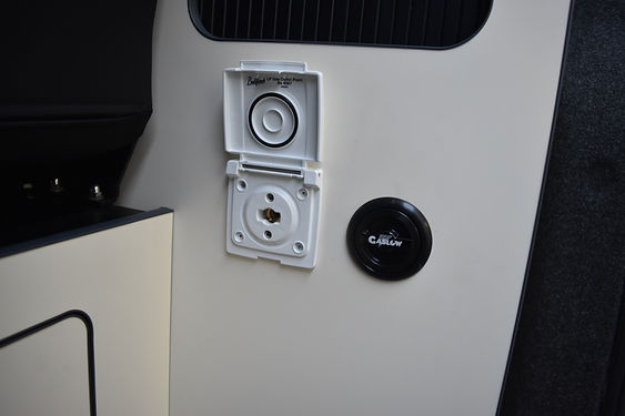 Compervan conversion with standard sink and hob from Dometic with a fridge and refillable gas system and bbq point at Apple County Customs Bristol