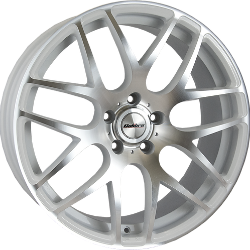 Calibre Exile-R White Polished Wheel and Tyre Package
