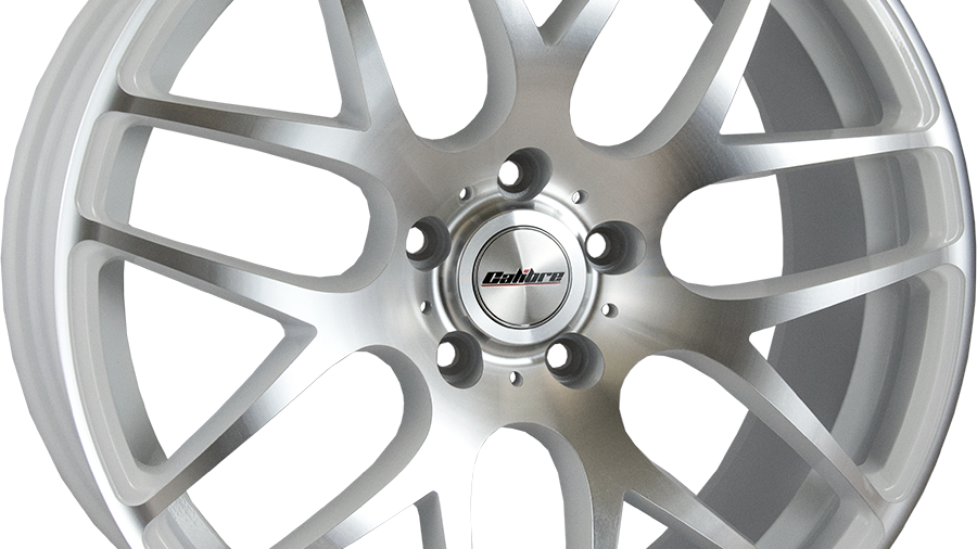 "Calibre Exile-R 18"" White Polished Wheel and Tyre Package"