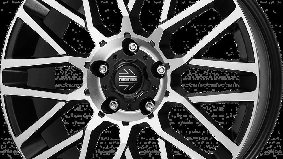 "MOMO Revenge 20"" Matte Black Polished Wheel and Tyre Package"