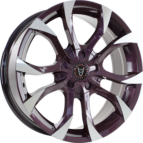 "Wolfrace Eurosport Assassin 20"" Blackberry Polished Wheel and Tyre Package"