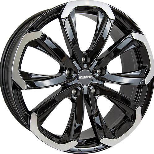 Calibre Havana Gloss Black Polished Wheel and Tyre Package