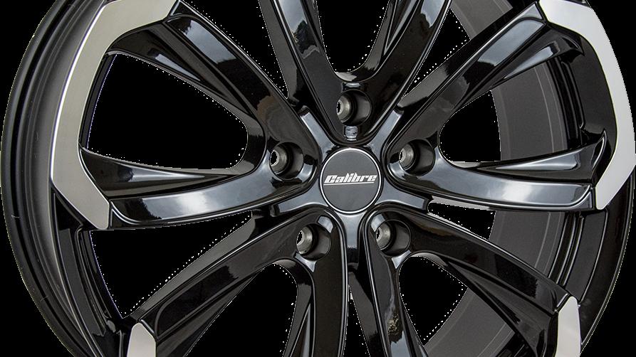 Calibre Havana Gloss Black Polished Wheel and Tyre Package