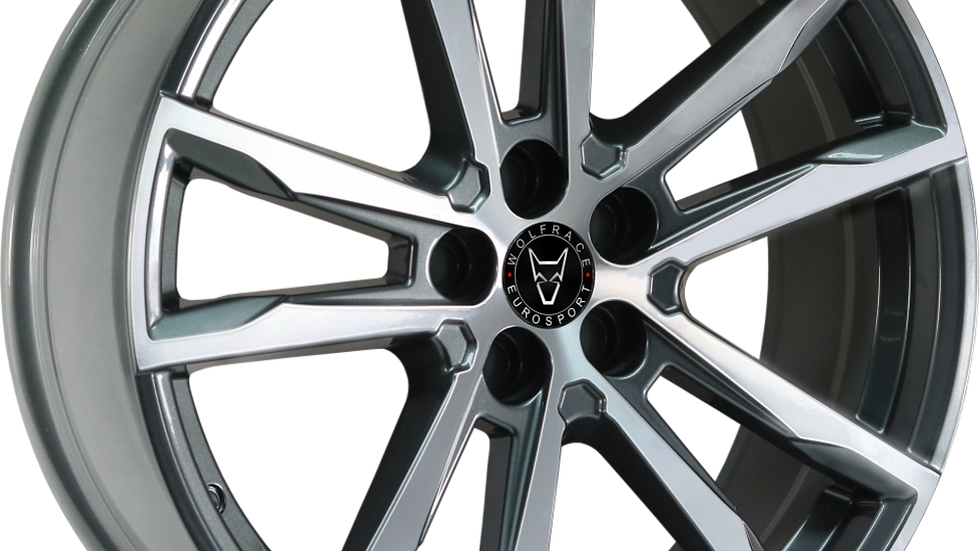 "Wolfrace Eurosport Dortmund 20"" Gunmetal Polished Wheel and Tyre Package"