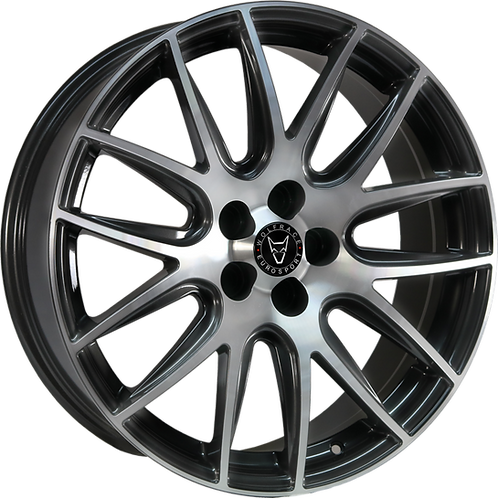 Wolfrace Eurosport Munich Gunmetal Polished Wheel and Tyre Package