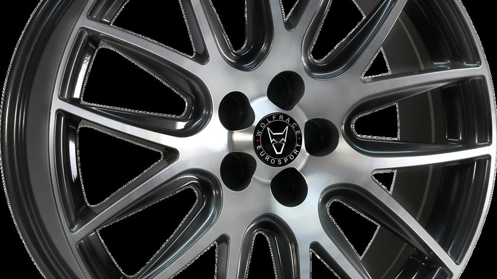 Wolfrace Eurosport Munich Gunmetal Polished Wheel and Tyre Package