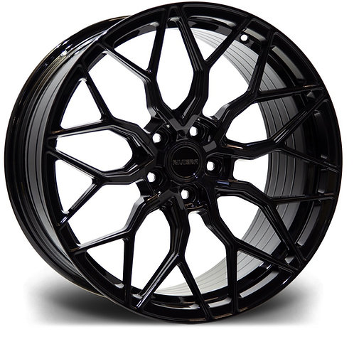 "RIVIERA GLOSS BLACK RF108 20"" ALLOY + TYRE PACKAGE"