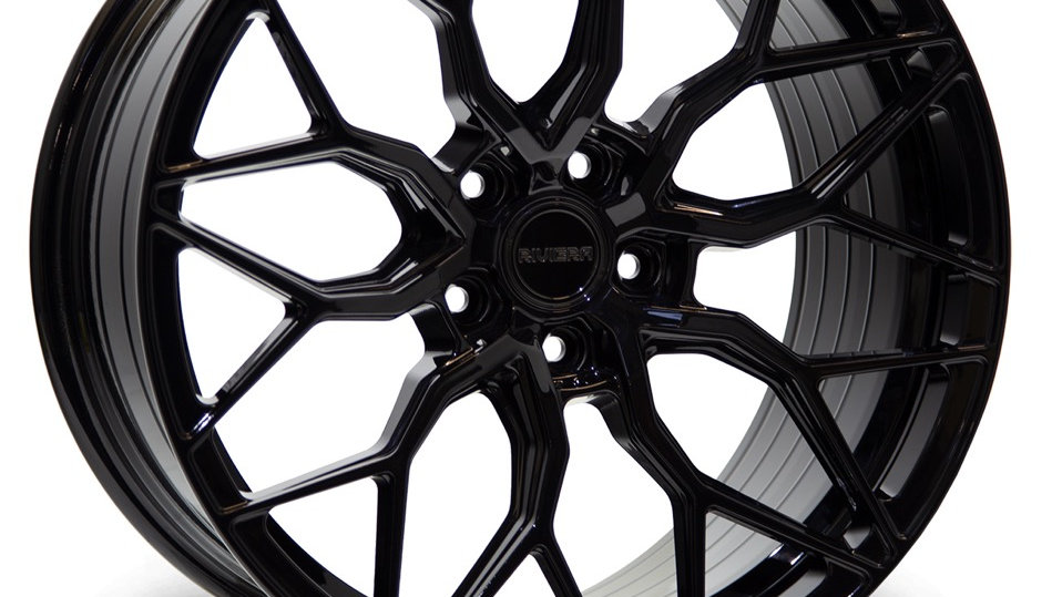 """RIVIERA GLOSS BLACK RF108 20"""" ALLOY + TYRE PACKAGE"""