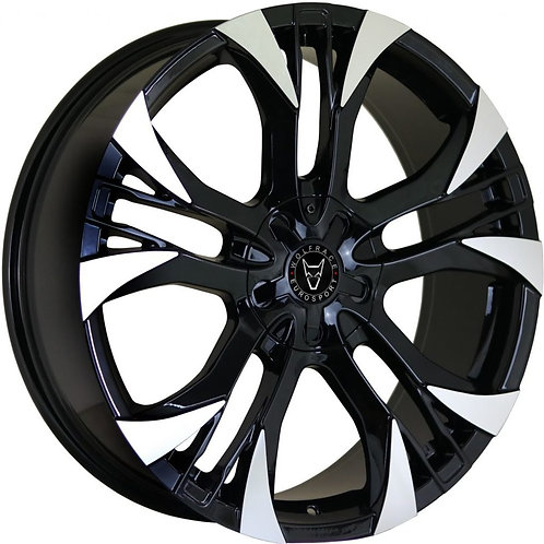 Wolfrace Eurosport Assassin GT2 Gloss Black Polished Wheel and Tyre Package