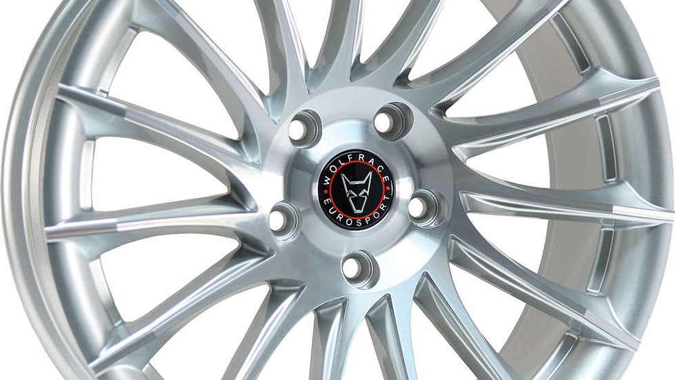 """Wolfrace Eurosport Aero 20"""" Silver Polished Wheel and Tyre Package"""