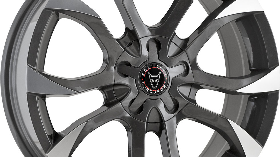 """Wolfrace Eurosport Assassin 18"""" Gunmetal Polished Wheel and Tyre Package"""