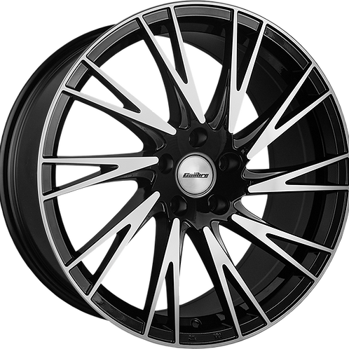 "Calibre Storm 20"" Black Polished Wheel and Tyre Package"