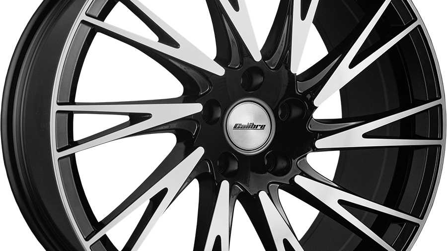 """Calibre Storm 20"""" Black Polished Wheel and Tyre Package"""