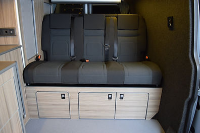 The RIB is a brand of campervan bed/seat made by Scopema in France. Equipped with TUV approval and a twelve month warranty, customers can buy a RIB with complete peace of mind. With a variety of upholstery options available, there's something for every style. At Apple County Customs, we fit RIB beds with a crash tested fitting kit made specifically for the RIB bed to ensure that all beds are fitted to strict safety regulations