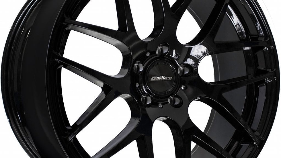 Calibre Exile-R Gloss Black Wheel and Tyre Package