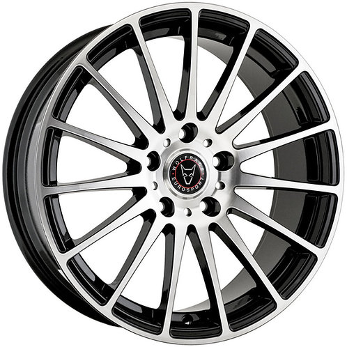 """Wolfrace Eurosport Turismo 18"""" Gloss Black Polished Wheel and Tyre Package"""