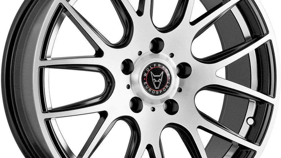 Wolfrace Eurosport Munich Gloss Black Polished Wheel and Tyre Package
