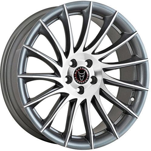 Wolfrace Eurosport Aero Gunmetal Polished Wheel and Tyre Package