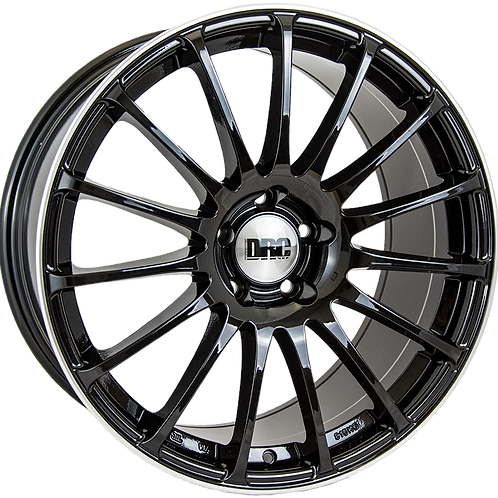 "DRC Rapide 18"" Gloss Black Polished Wheel and Tyre Package"