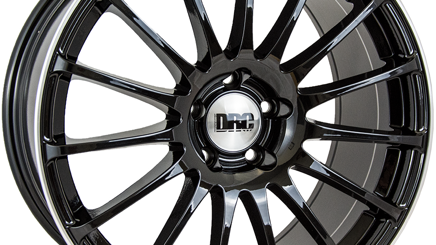 """DRC Rapide 18"""" Gloss Black Polished Wheel and Tyre Package"""