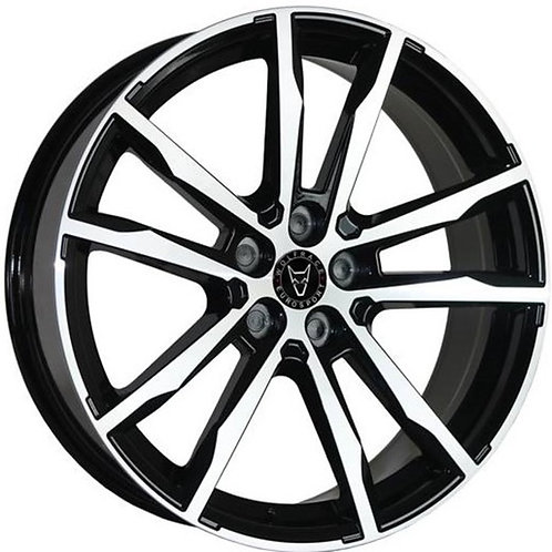 Wolfrace Eurosport Dortmund Gloss Black Polished Wheel and Tyre Package