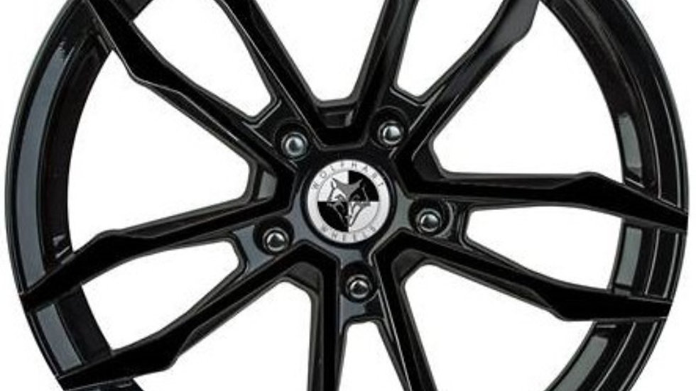 """Wolfhart VT5 18"""" Gloss Black Wheel and Tyre Package"""