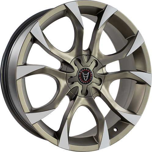 """Wolfrace Eurosport Assassin 18"""" Bronze and Polished Tips Wheel and Tyre Package"""