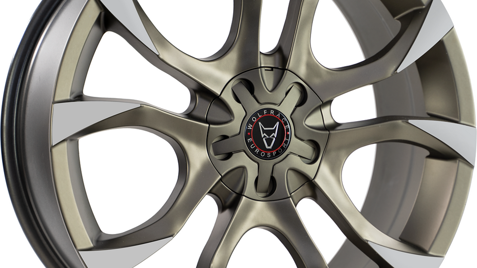 "Wolfrace Eurosport Assassin 18"" Bronze and Polished Tips Wheel and Tyre Package"
