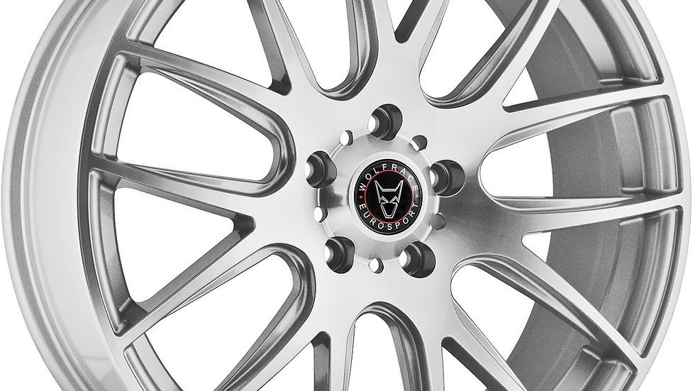 Wolfrace Eurosport Munich Silver Polished Wheel and Tyre Package