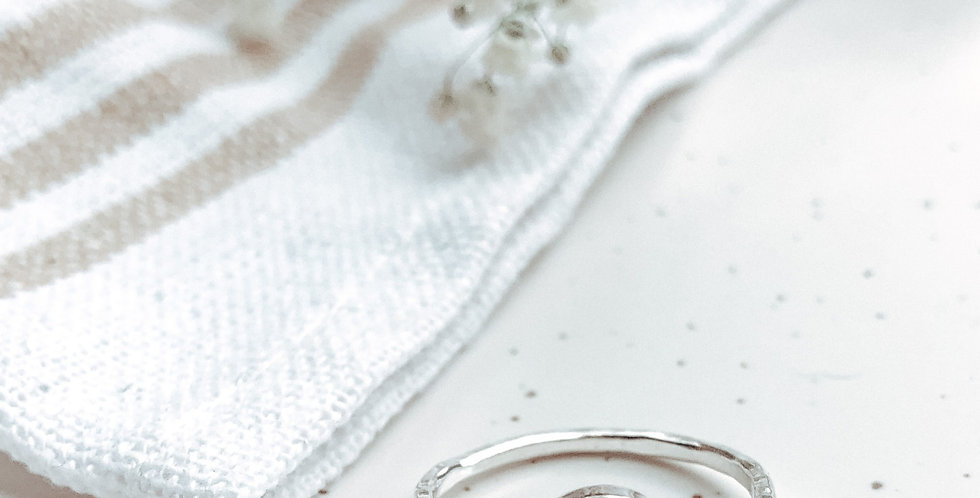 Sterling Silver Milky White Moonstone Ring