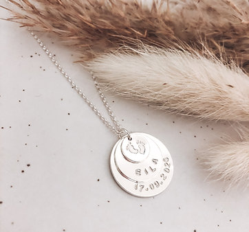 Sterling Silver Trio Disc Necklace