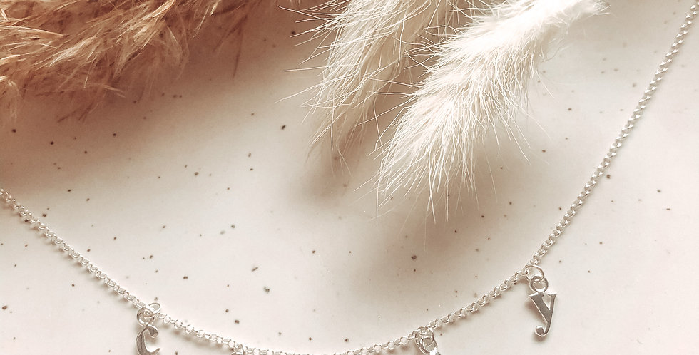Mini Alphabet Charm Name Necklace