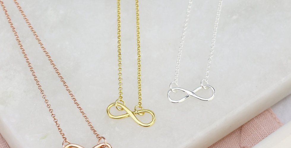 Infinity Bracelet - Choice of Sterling Silver, Rose Gold or Gold