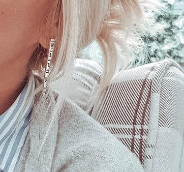 Hand Stamped Fork Tine Stud Earrings