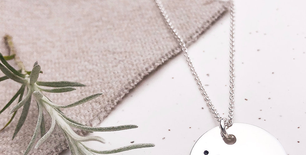 Sterling Silver Hand Stamped Constellation Necklace