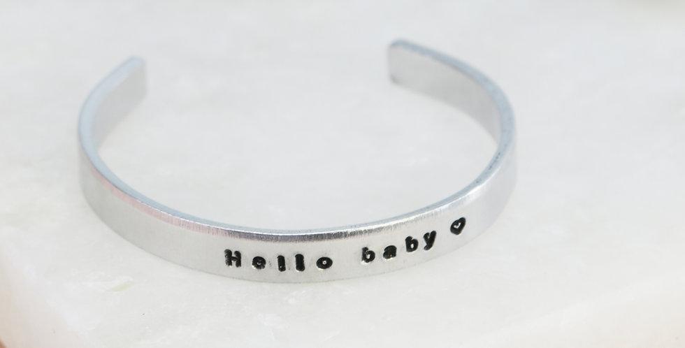 Children's Personalised Hand Stamped Aluminium Cuff Bangle