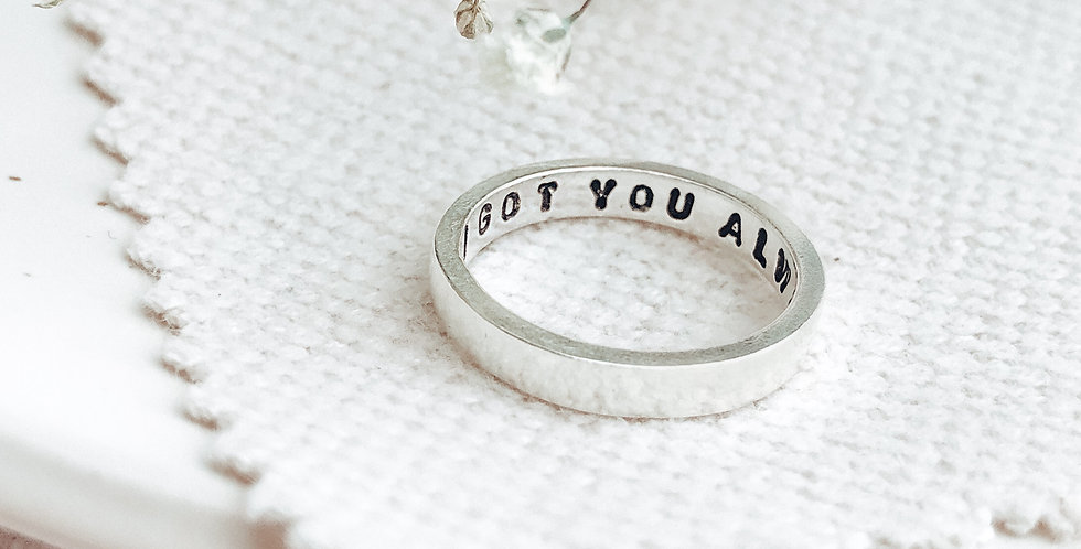 Sterling Silver Personalised Message Ring