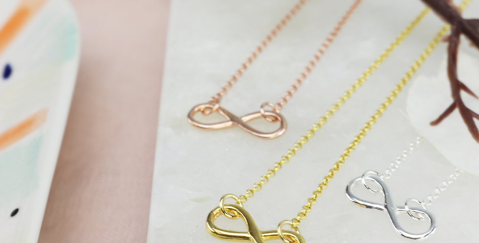 Infinity Necklace - Sterling Silver, Rose Gold or Gold
