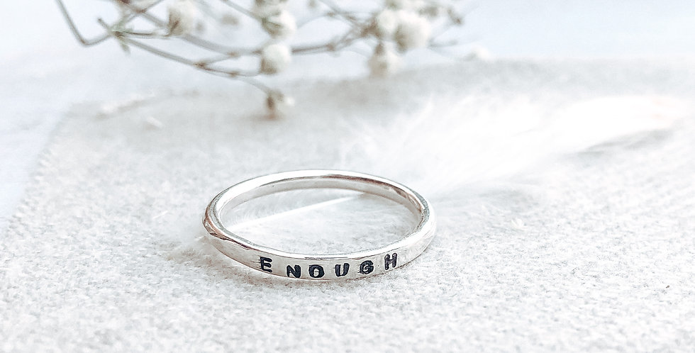 Sterling Silver Hand Stamped Stacking Ring