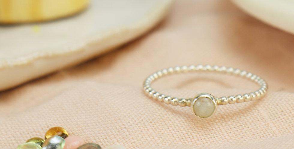 Sterling Silver Mini Gemstone Ring