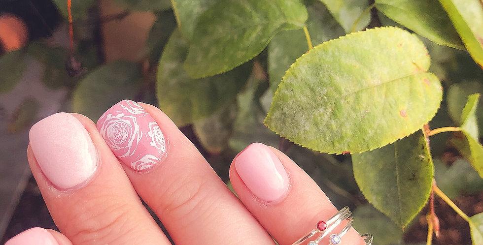 Sterling Silver Skinny Birthstone Ring