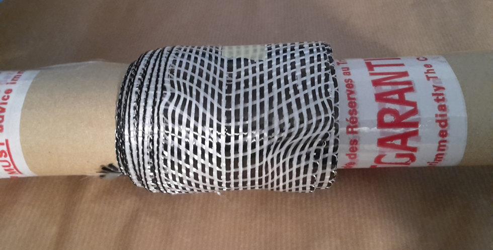 """Tessuto in Carbonio Fibre Stripe 3"""" (8cm) per rails -1 metro lineare"""