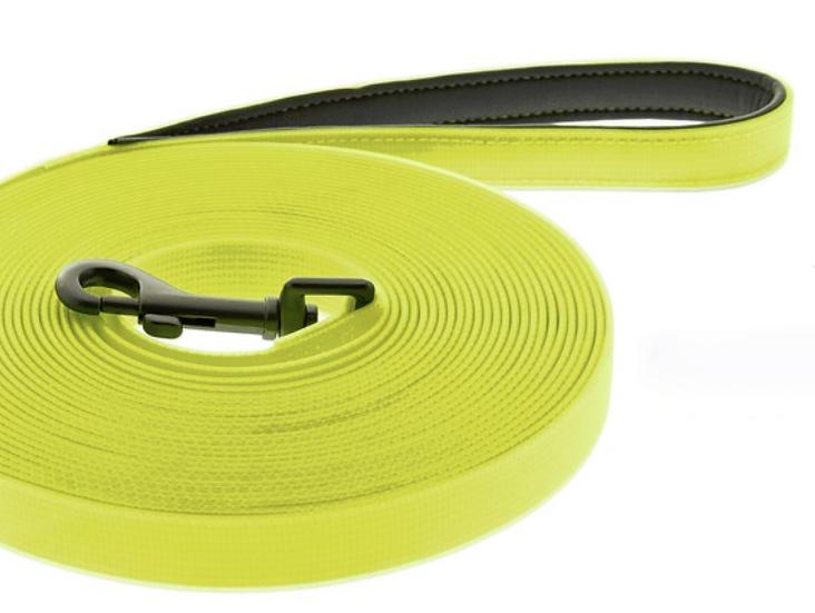 Longe FUN FLAT jaune fluo largeur:2cm, longueur: 10m