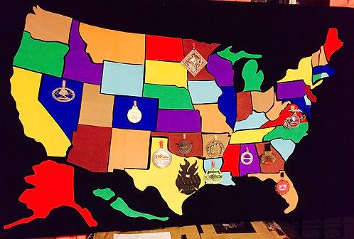 Virtual 50 States Challenge Map