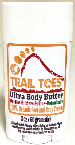 Trail Toes Ultra Body Butter 2 oz / 60 gram Stick