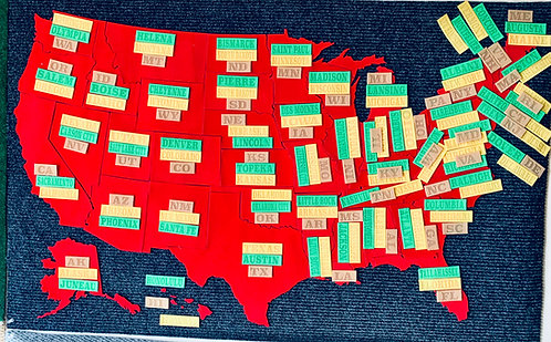 Virtual 50 States Challenge Map with Completion Markers